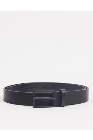 ASOS Herren Gürtel - Slim belt in faux leather with matte buckle detail