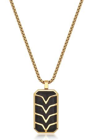 Nialaya Jewelry Chevron-detail dog tag necklace