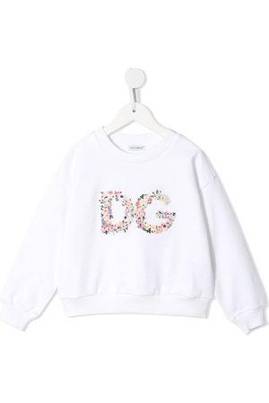 Dolce & Gabbana Floral-logo crew-neck sweatshirt