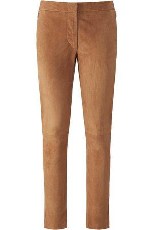 Fadenmeister Berlin Damen Leder & Lederimitathosen - Knöchellange Lederhose aus 100% Leder