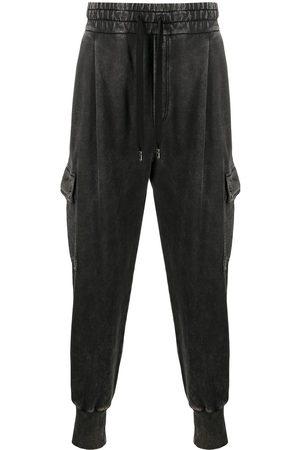 Dolce & Gabbana Herren Cargohosen - Acid-wash cargo track pants