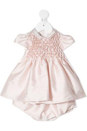 LA STUPENDERIA Ruched short-sleeve dress