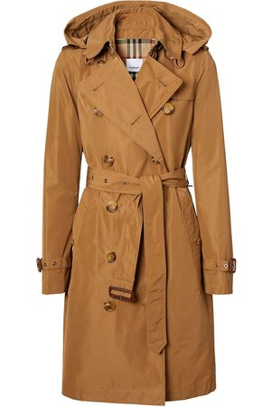 Burberry Damen Trenchcoats - Detachable hood taffeta trench coat
