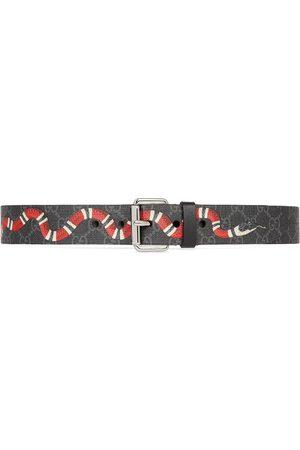 Gucci Herren Gürtel - GG belt with Kingsnake print