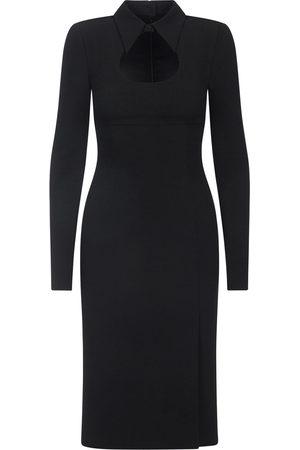 Dolce & Gabbana Cady calf-length dress with collar