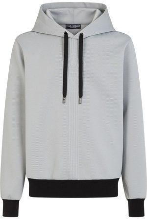 Dolce & Gabbana Herren Lange Ärmel - Drawstring-hood long-sleeve hoodie