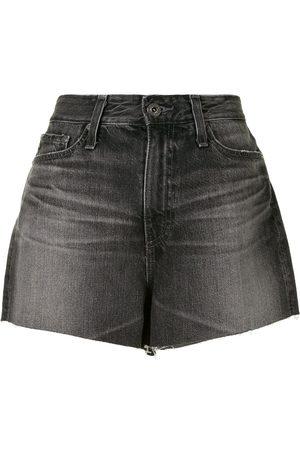 AG Jeans Raw-edge high-waisted shorts