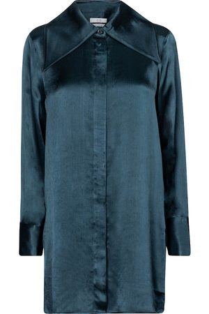 CO Oversize-Bluse aus Satin