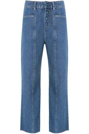 AMAPÔ Damen Straight - Botonê denim trousers