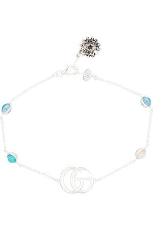 Gucci Armband Double G aus Sterlingsilber mit Topas