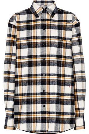 Victoria Beckham Kariertes Hemd aus Baumwollflanell