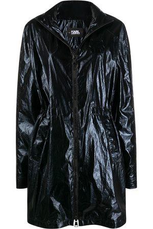 Karl Lagerfeld Damen Parkas - Ikonik metallic parka coat