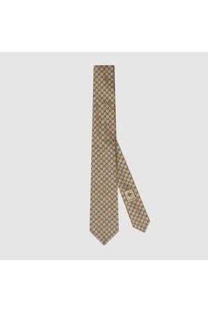 Gucci Herren Krawatten - Krawatte aus GG Seide mit Bienen