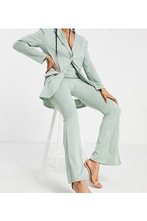 ASOS ASOS DESIGN Tall ponte 3 piece sporty suit flare trouser in