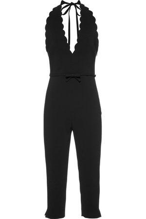 Miu Miu Damen Jumpsuits - Cady scallop-trim jumpsuit