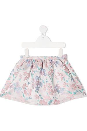 HUCKLEBONES LONDON Floral-jacquard mini skirt