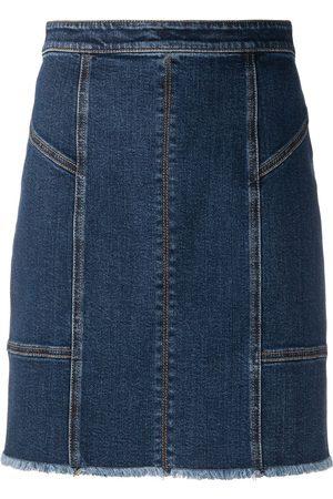 Alexander McQueen Damen Miniröcke - Panelled denim mini skirt