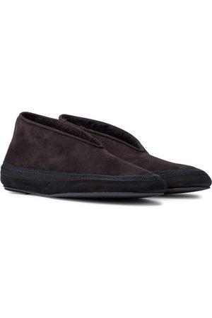 The Row Ankle Boots Fairy aus Veloursleder