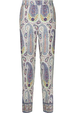 Etro Damen Stoffhosen - Hose aus Wolle und Seide