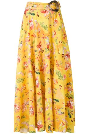 Isolda Dora linen printed skirt