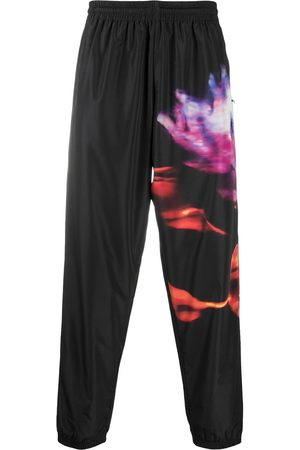 MARCELO BURLON FLOWER JOGGER PANTS