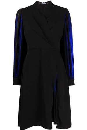 Karl Lagerfeld Pleated sleeve metallic dress