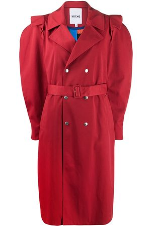 KOCHÉ Puff-sleeve double-breasted coat