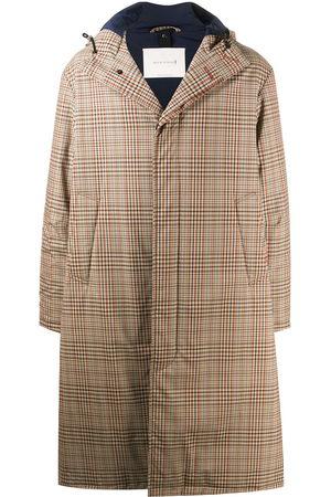 MACKINTOSH Check-pattern knee-length coat