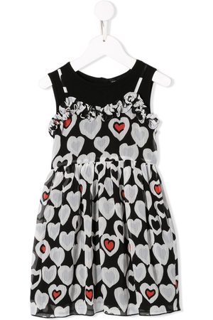 Emporio Armani Heart print flared dress