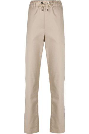 Brunello Cucinelli Drawstring cotton trousers
