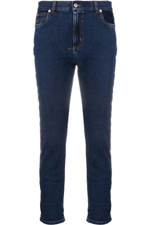 Alexander McQueen Side-stripe slim-fit jeans