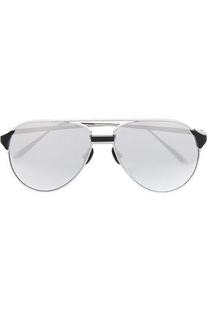 Linda Farrow Silver aviator sunglasses