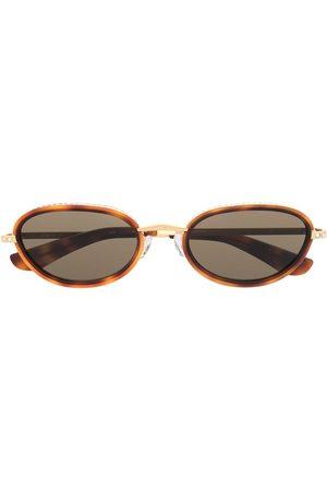 Linda Farrow Round-frame tortoiseshell sunglasses