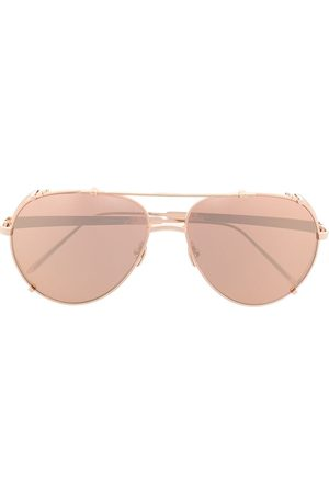 Linda Farrow Herren Sonnenbrillen - Bronze aviator sunglasses