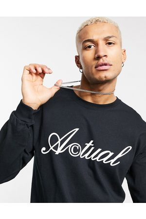 ASOS Actual Long sleeve t-shirt in with front logo