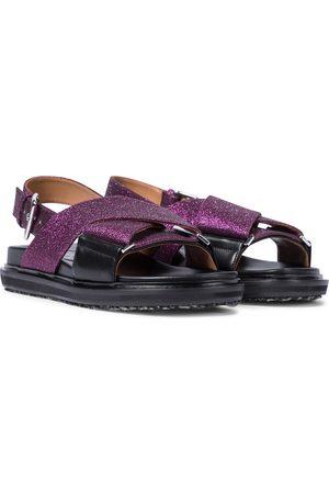 Marni Sandalen aus Leder mit Gitter