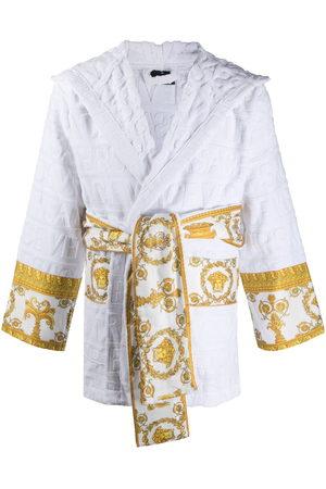 Versace Damen Bedruckte Kleider - Barocco-print logo devoré short robe