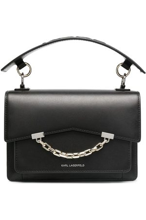 Karl Lagerfeld Chain-trim leather tote