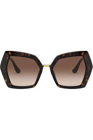 Dolce & Gabbana Tortoiseshell oversized sunglasses