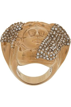 VERSACE Crystal-embellished Medusa ring