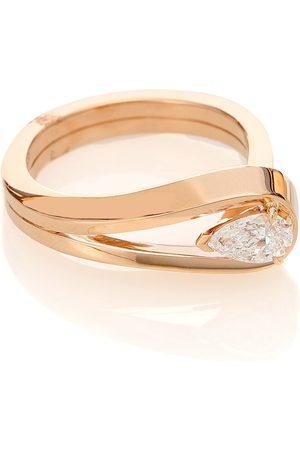 Repossi Ring Serti Inversé aus 18kt Rosé mit Diamant
