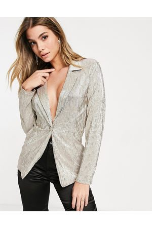 ASOS Jersey sparkle suit blazer in