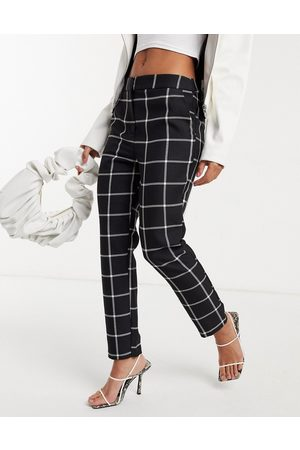 ASOS Mono grid check slim 3 piece suit trouser