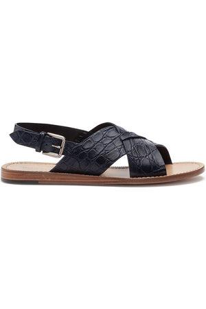 Dolce & Gabbana Herren Sandalen - Crocodile effect interwoven sandals