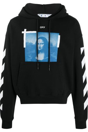 OFF-WHITE BLUE MONALISA OVER HOODIE WHITE