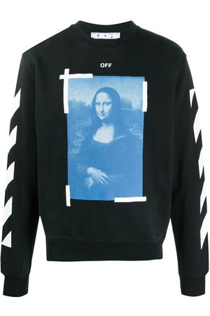 OFF-WHITE BLUE MONALISA SLIM CREWNECK WHITE