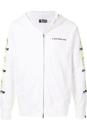 A BATHING APE® Ghost logo full-zip hoodie