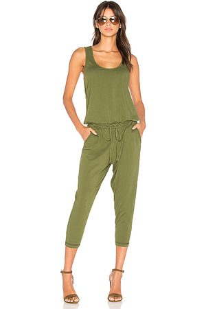 Bobi Supreme Jersey Sleeveless Jumpsuit in - Green. Size L (also in M, S).