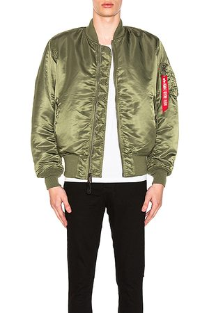 Alpha Industries MA-1 Blood Chit Bomber Jacket in - Green. Size M (also in S).