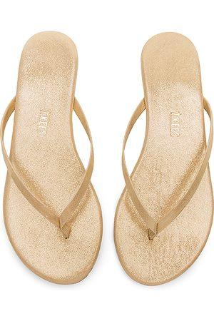 Tkees Glitters Flip Flop in - Metallic Gold. Size 5 (also in 6, 7).